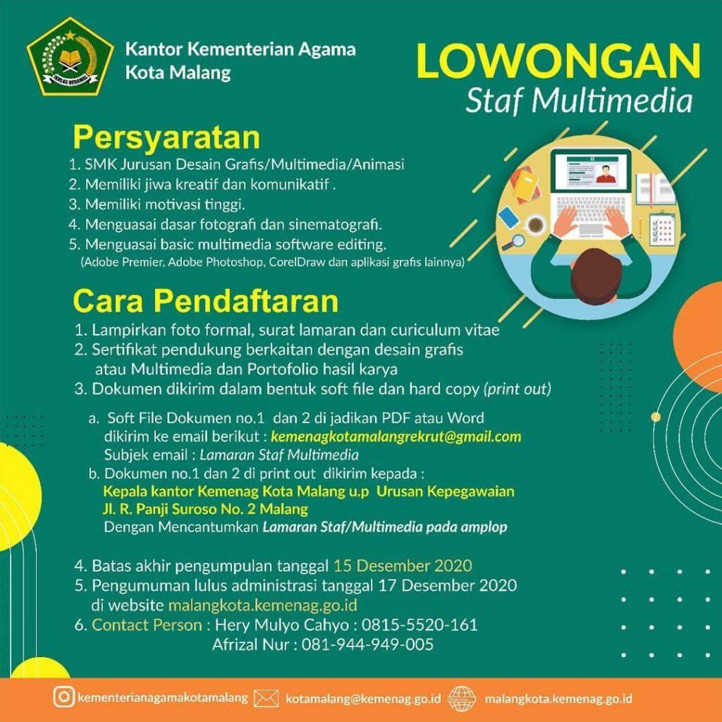 Lowongan Kerja - Kementerian Agama Republik Indonesia ...